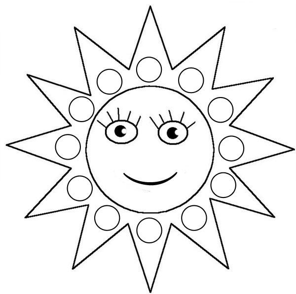 94 dessins de coloriage soleil et lune imprimer - Dessin de soleil a imprimer ...