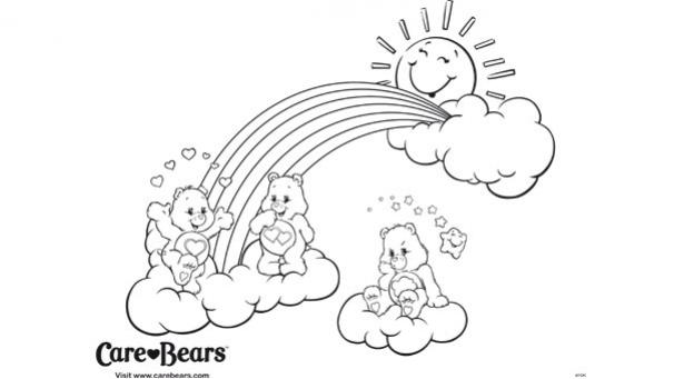 94 dessins de coloriage soleil et nuage imprimer - Bisounours soleil ...