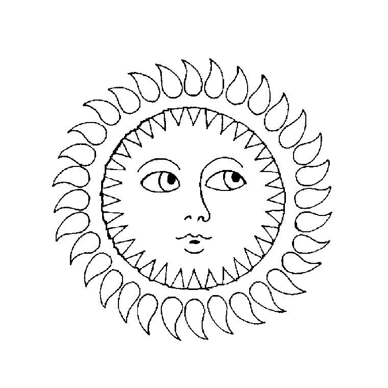dessin soleil raiponce