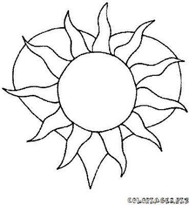 Dessin colorier coucher de soleil sur la mer a imprimer - Coucher de soleil dessin ...