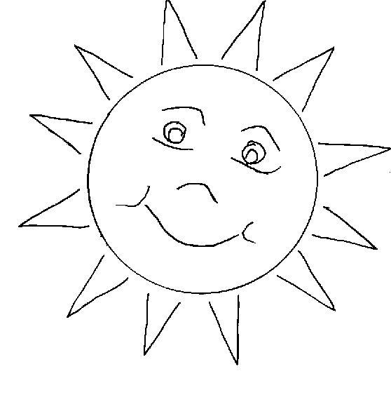 dessin à colorier vacances au soleil