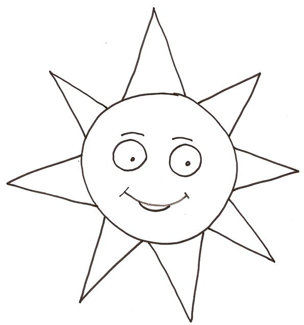 coloriage à dessiner soleil à imprimer
