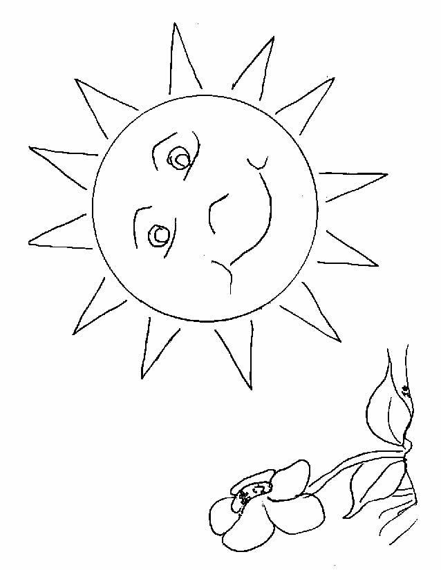 coloriage vacances au soleil