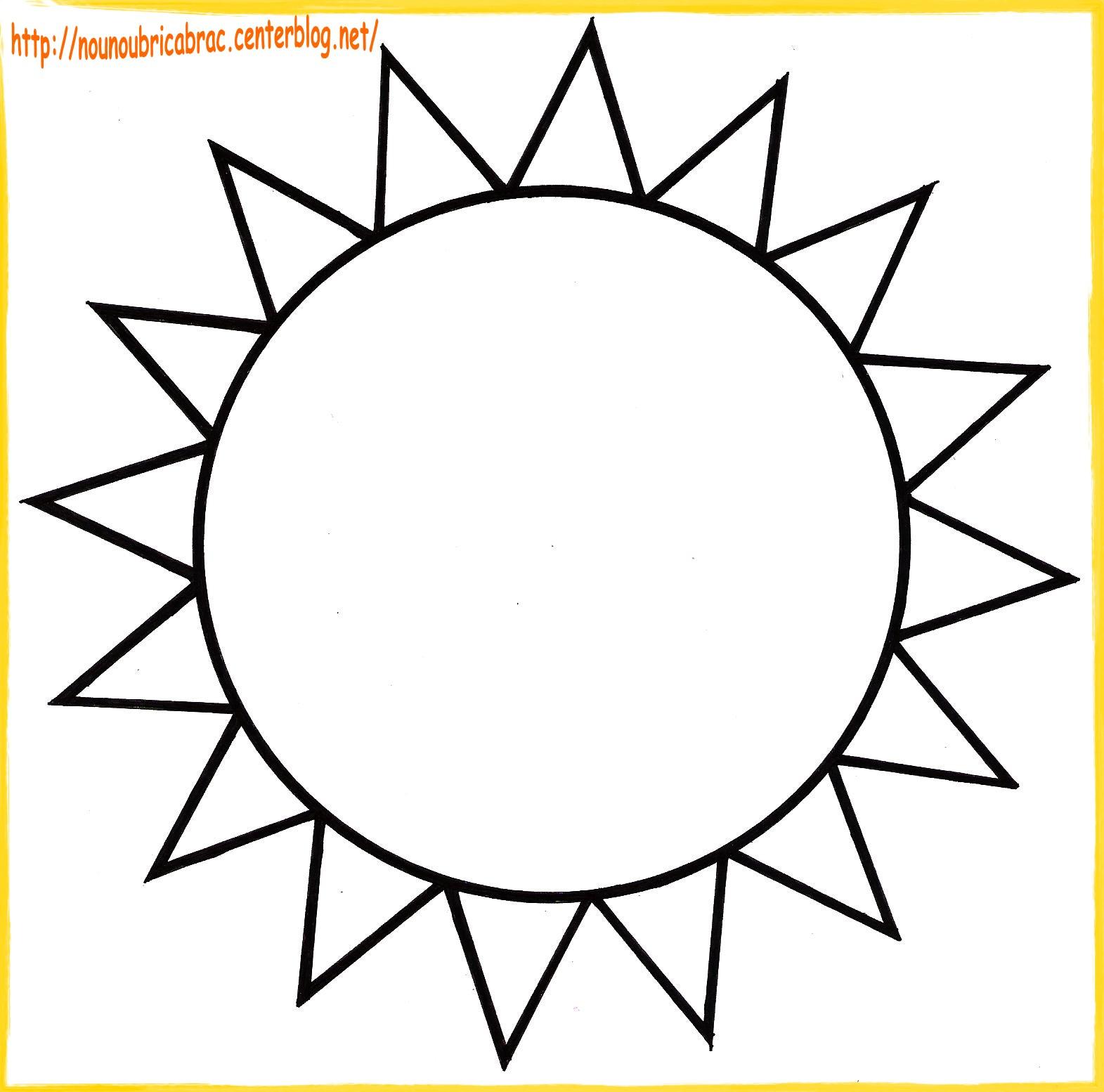 coloriage à dessiner soleil et nuage