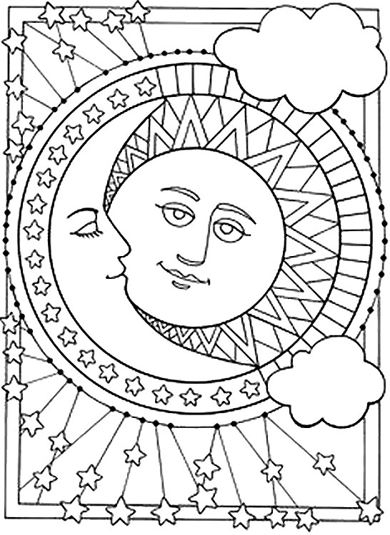 Free coloring pages of sun rising