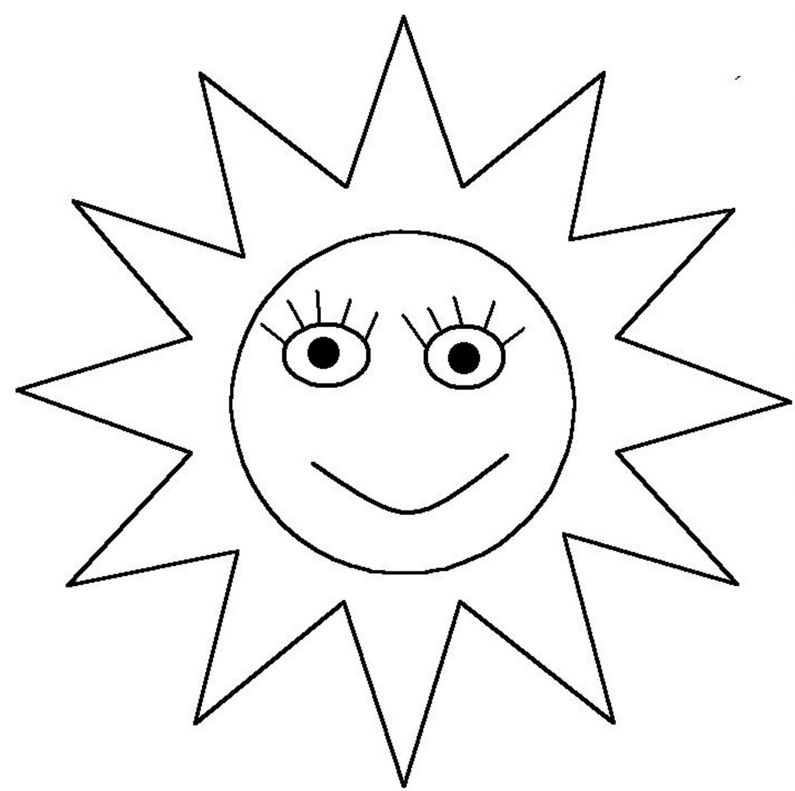 dessin à colorier coucher de soleil sur la mer