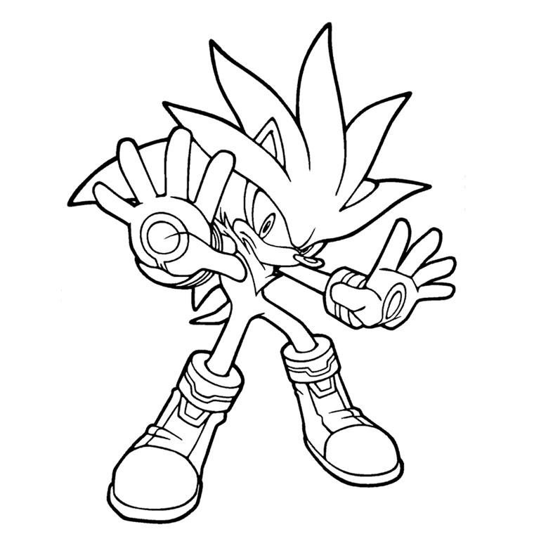 coloriage à dessiner sonic boom