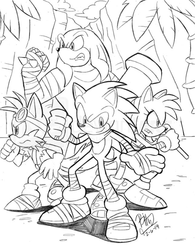 46 dessins de coloriage Sonic Boom à imprimer
