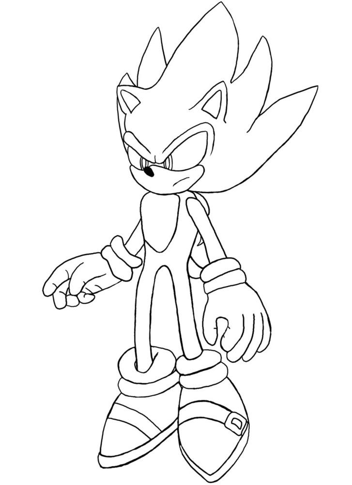 Coloriage ã Dessiner De Sonic Boom A Imprimer