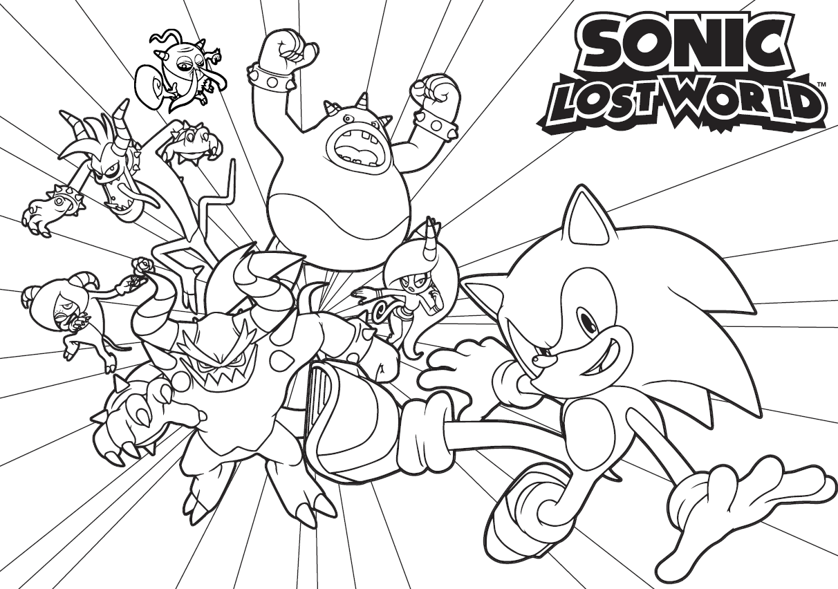 Where Hog Sonic Coloring Coloring Pages Sonic And Friends Coloring Pages
