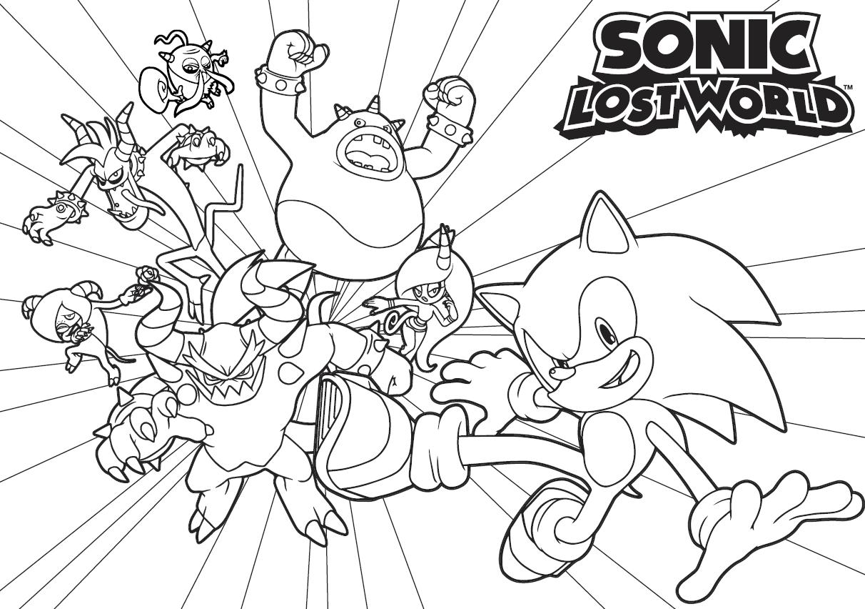 46 dessins de coloriage sonic boom imprimer - Dessin de sonic et ses amis ...