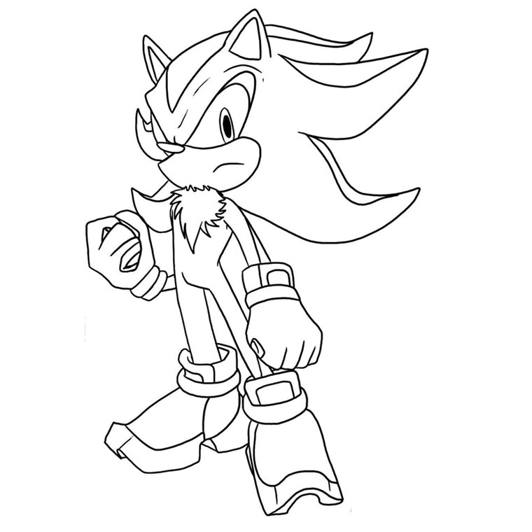 coloriage sonic boom shadow