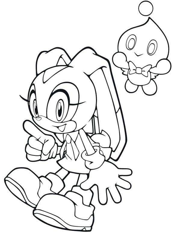 coloriage sonic amy