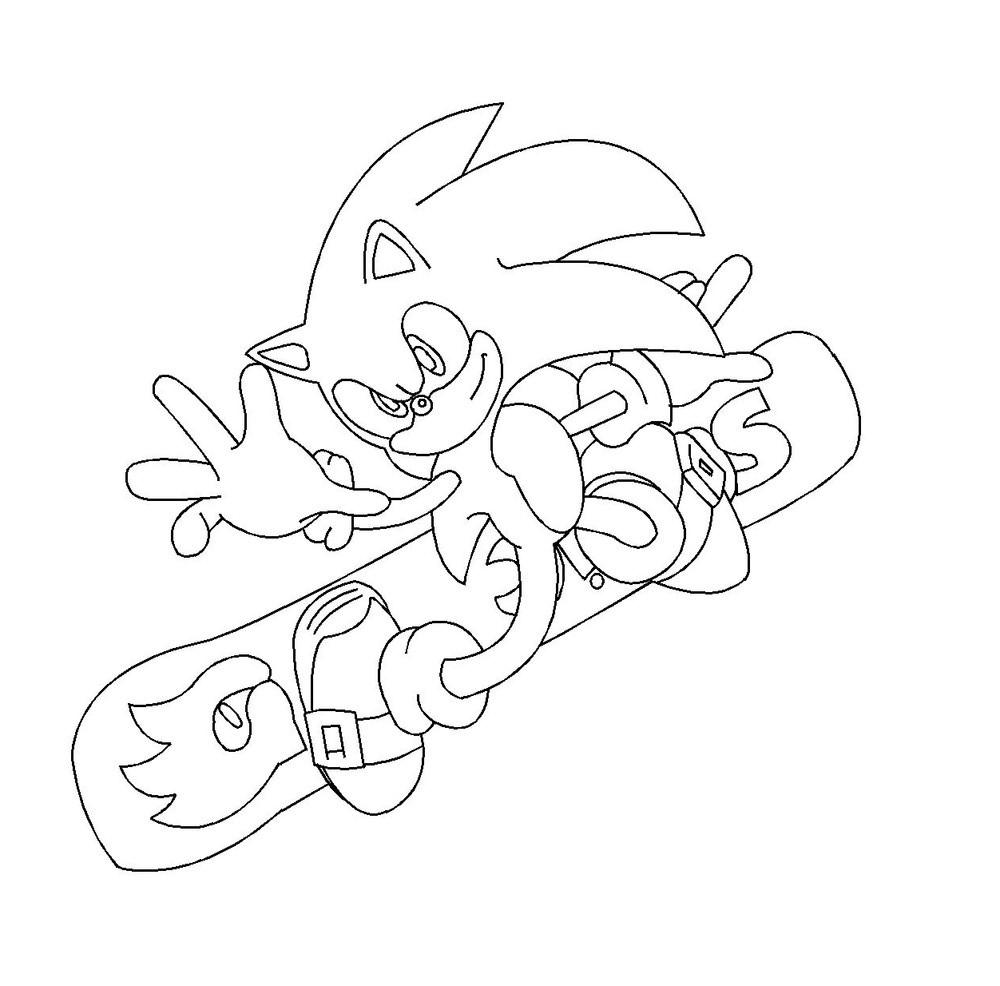 dessin à colorier silver sonic