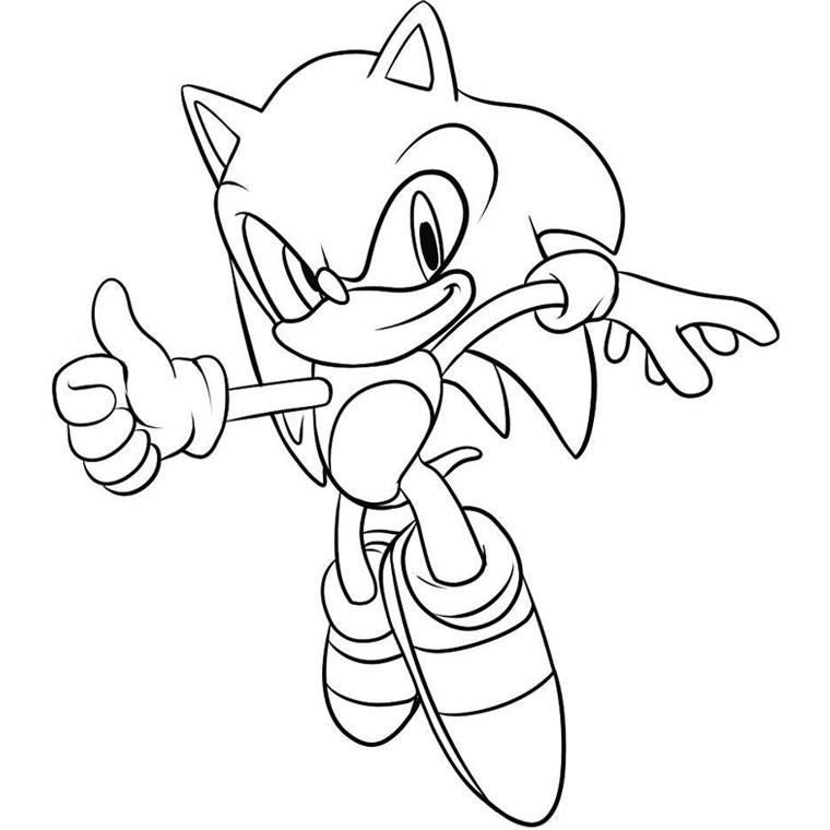 dessin à colorier personnage sonic