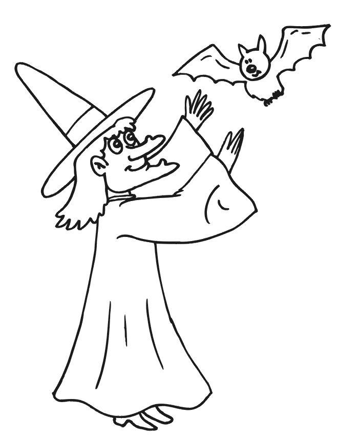 coloriage à dessiner de sorcière à imprimer