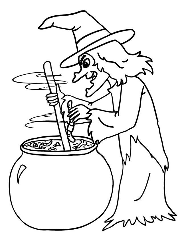 coloriage à dessiner sorciere en ligne