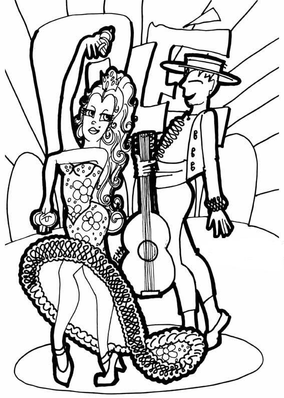 19 dessins de coloriage souris danseuse imprimer - Dessin espagne ...