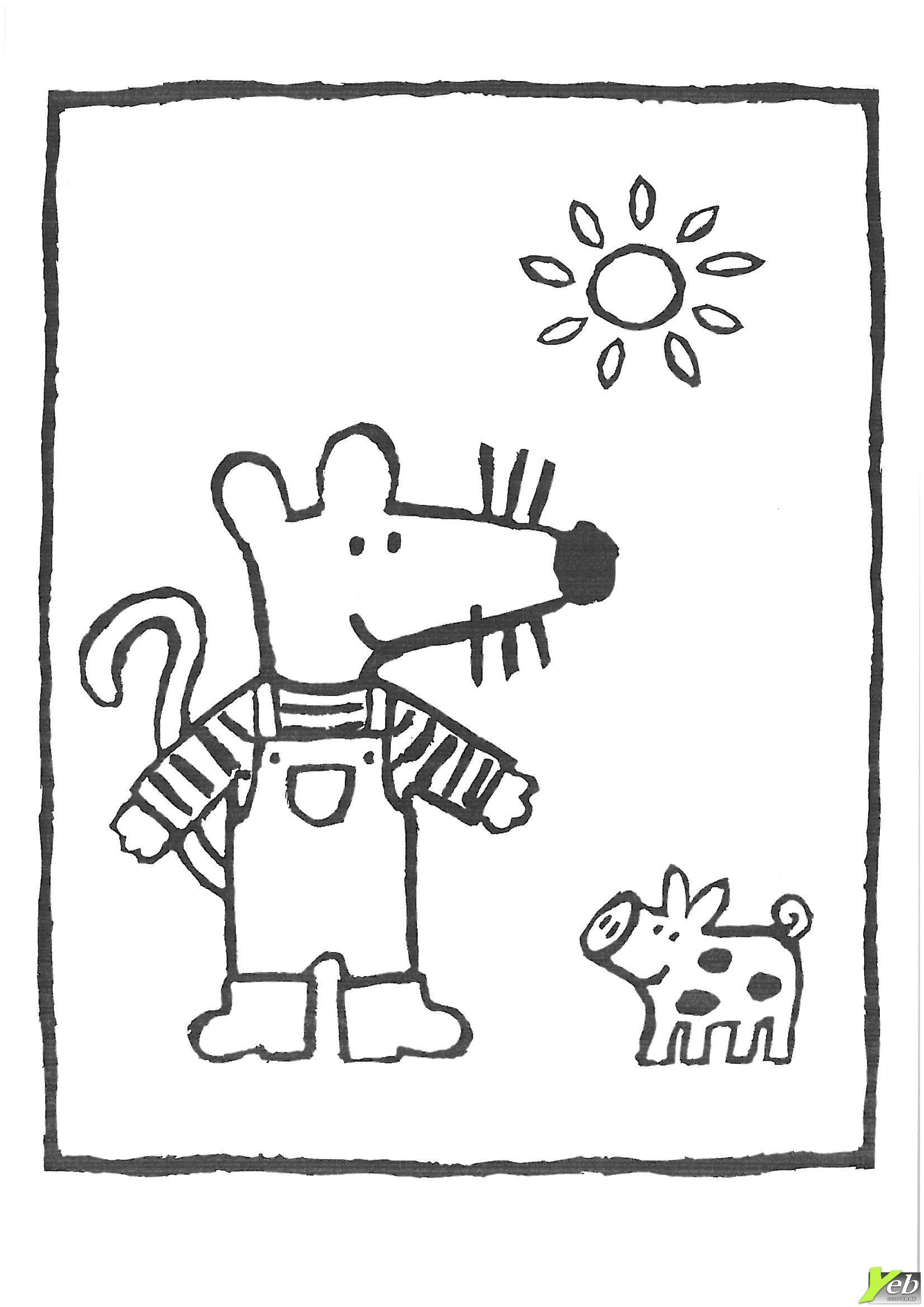 Coloriage mimi la souris maternelle - Coloriage petite souris ...