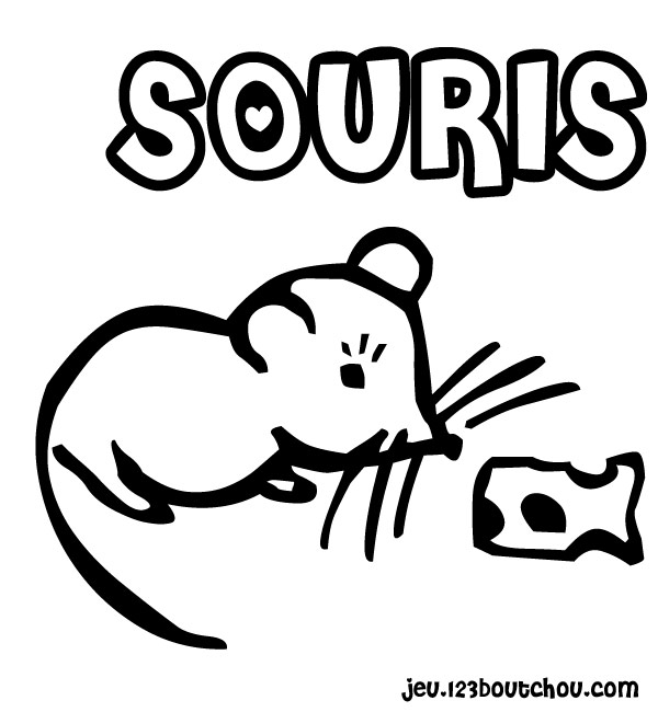 14 dessins de coloriage souris maternelle imprimer - Coloriage souris ...