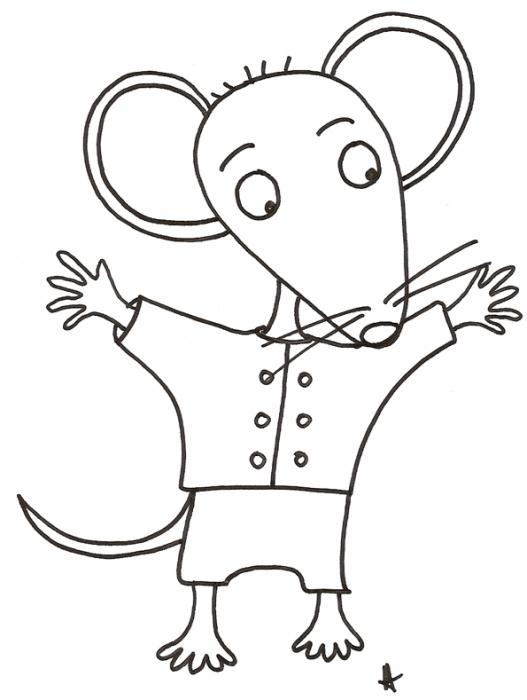 Ma petite souris dessin colorier noel en ligne - Souris a colorier ...