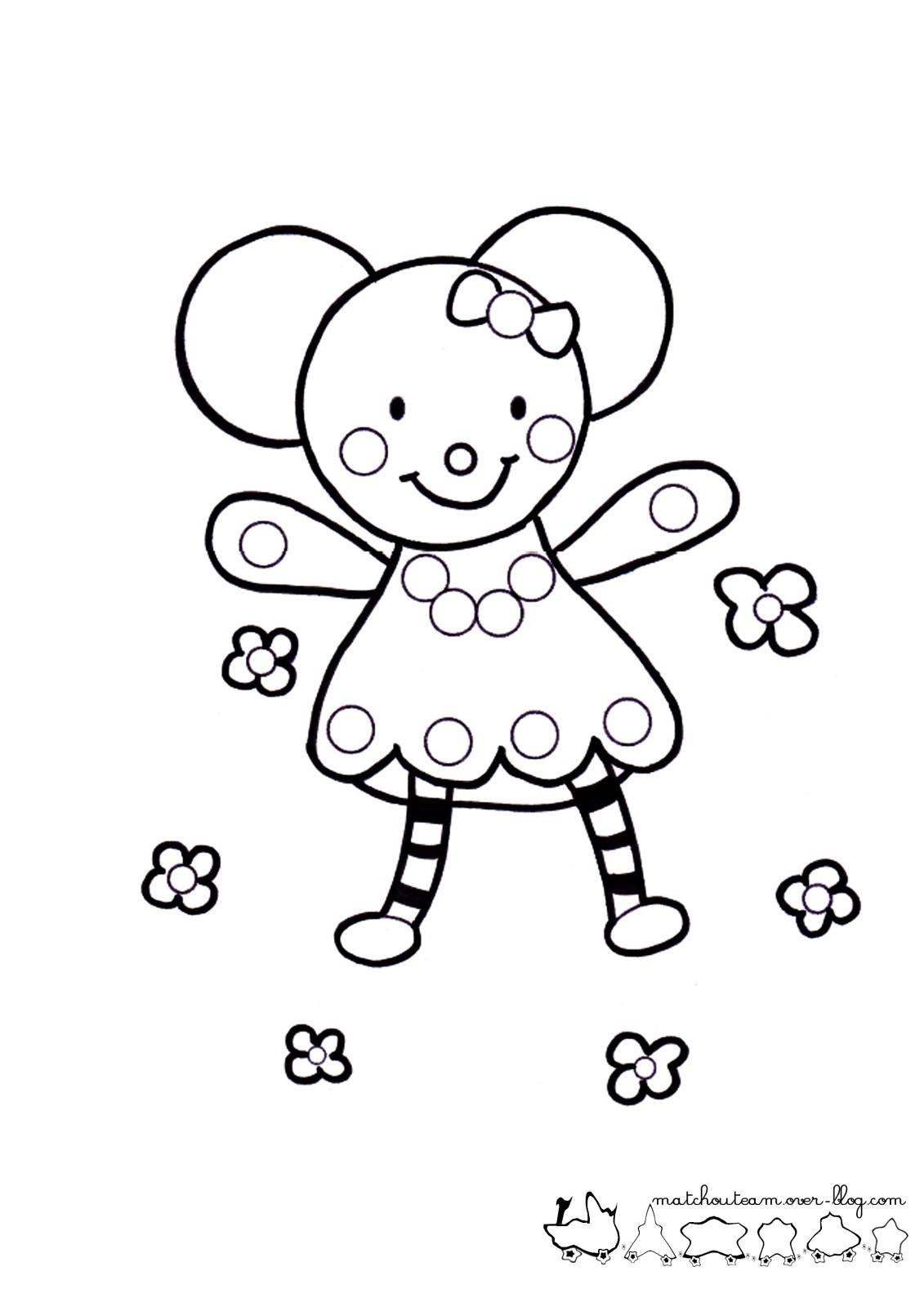 ma petite souris dessin à colorier noel en ligne