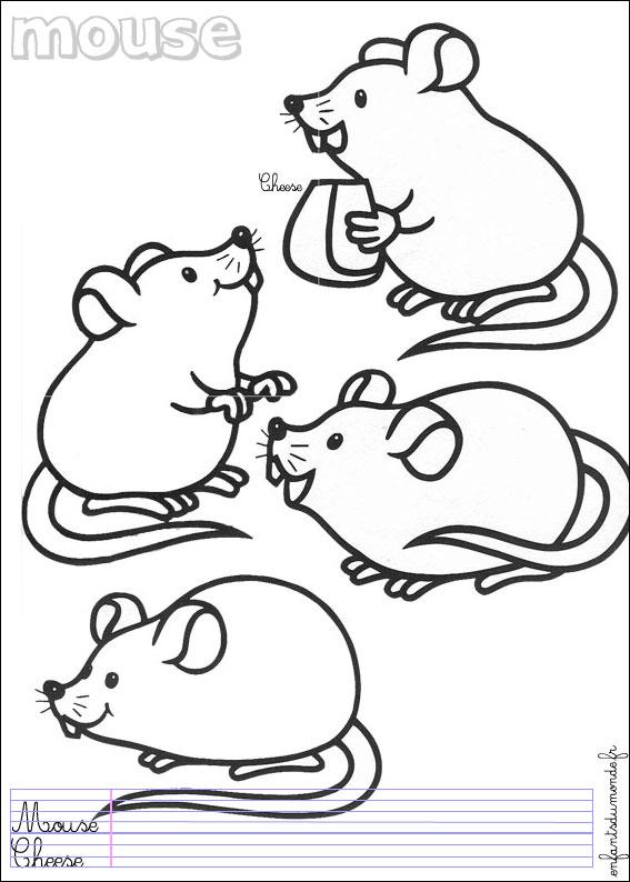 Dessin souris imprimer - Dessin de petite souris ...