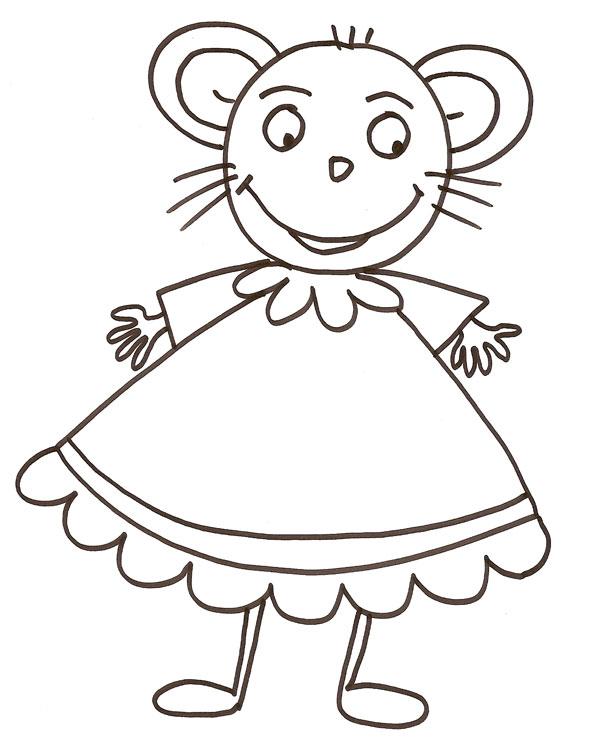Coloriage grosse souris - Dessiner une souris ...