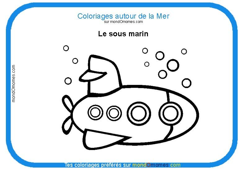 coloriage sous marin gratuit