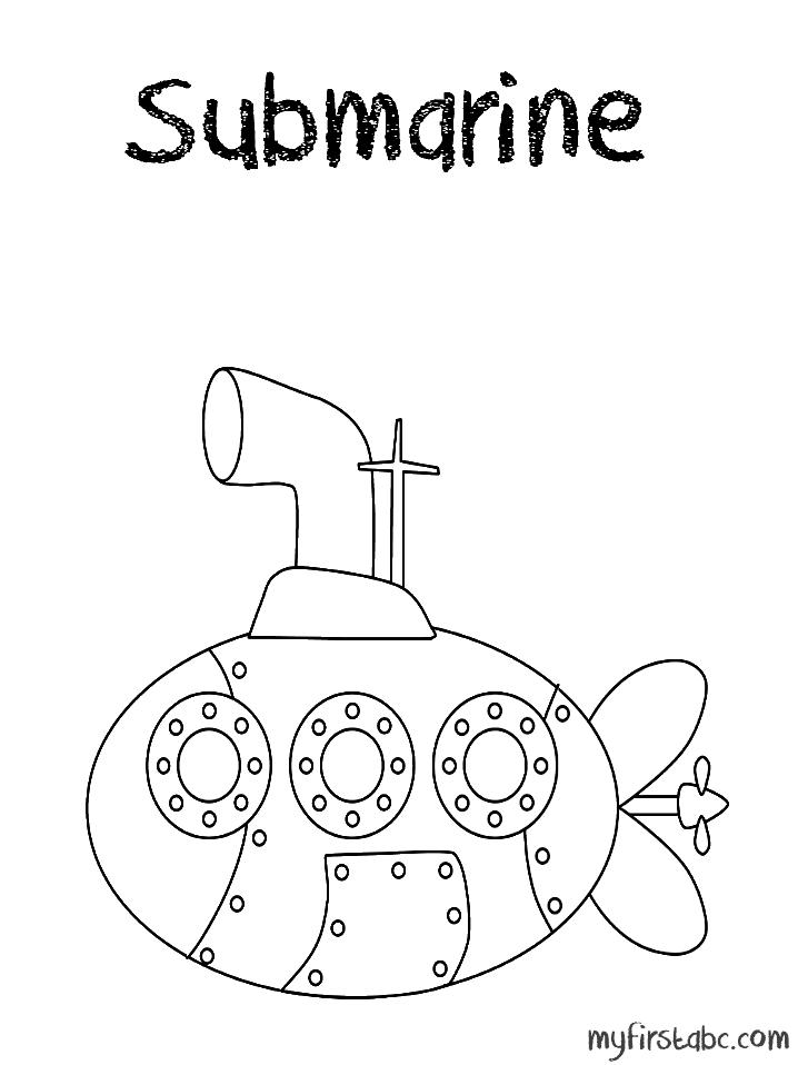 coloriage de sous marin