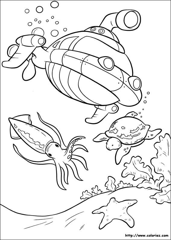 coloriage sous marin à imprimer