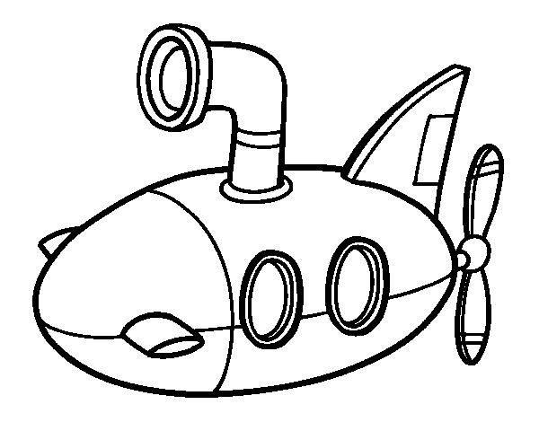 coloriage sous marin de guerre