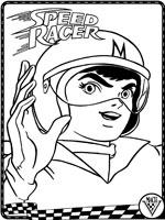 coloriage à dessiner de speed racer