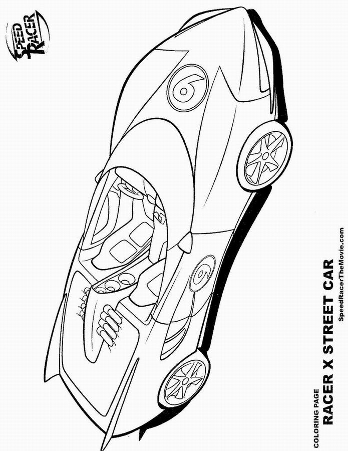 coloriage de speed racer
