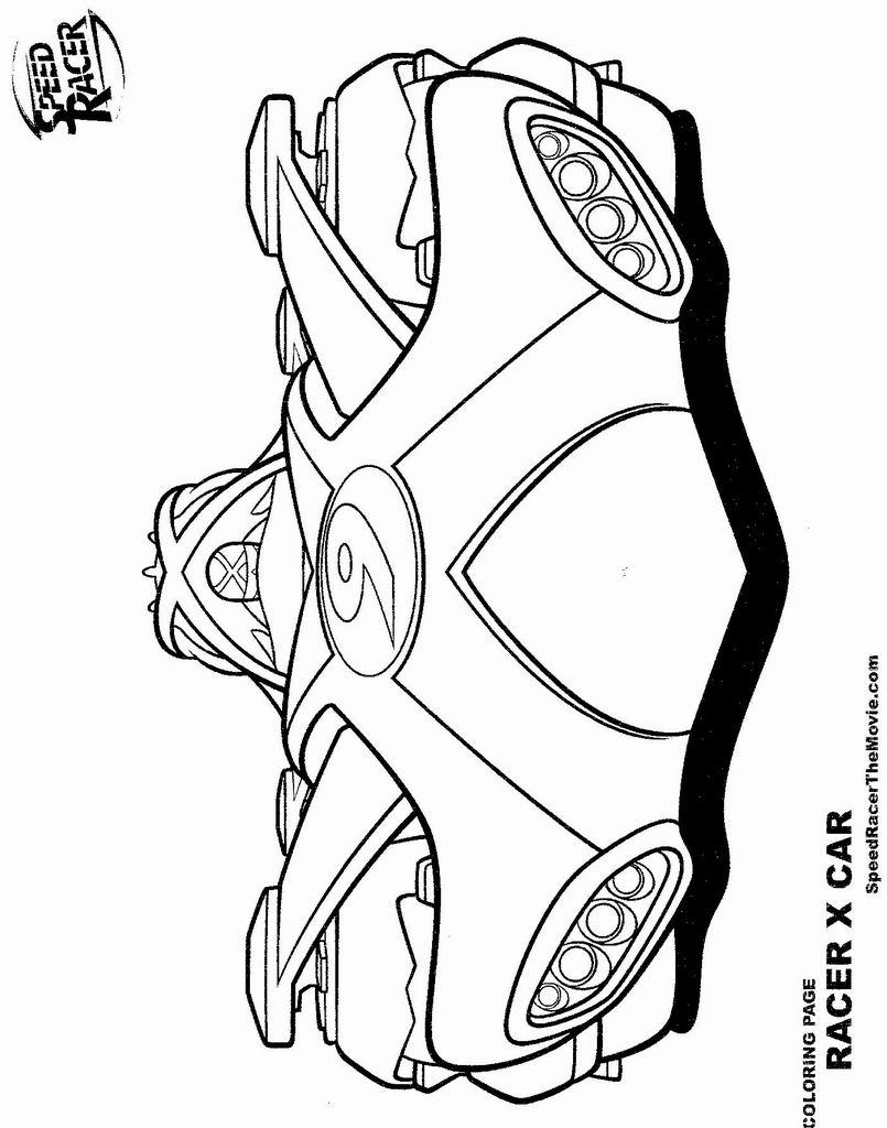 dessin de speed racer a imprimer