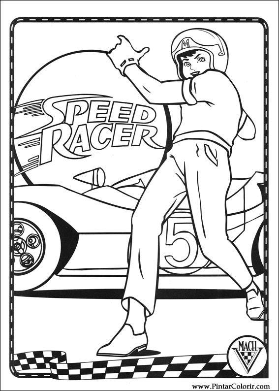 coloriage à dessiner speed racer imprimer