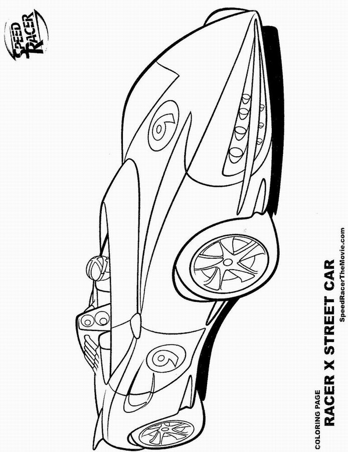 coloriage � dessiner speed racer