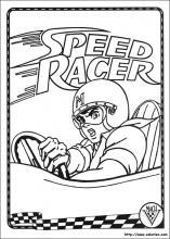 dessin à colorier de speed racer a imprimer