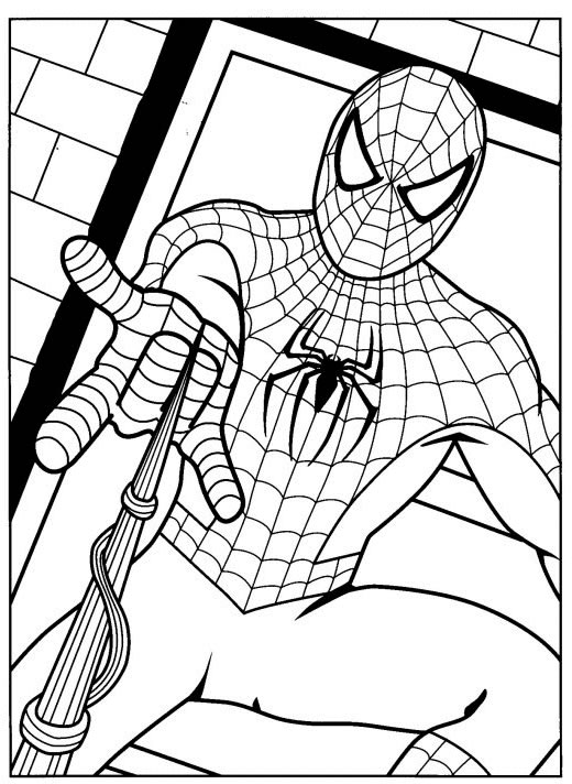 Pin coloriage thor avengers on pinterest - Dessin spiderman ...