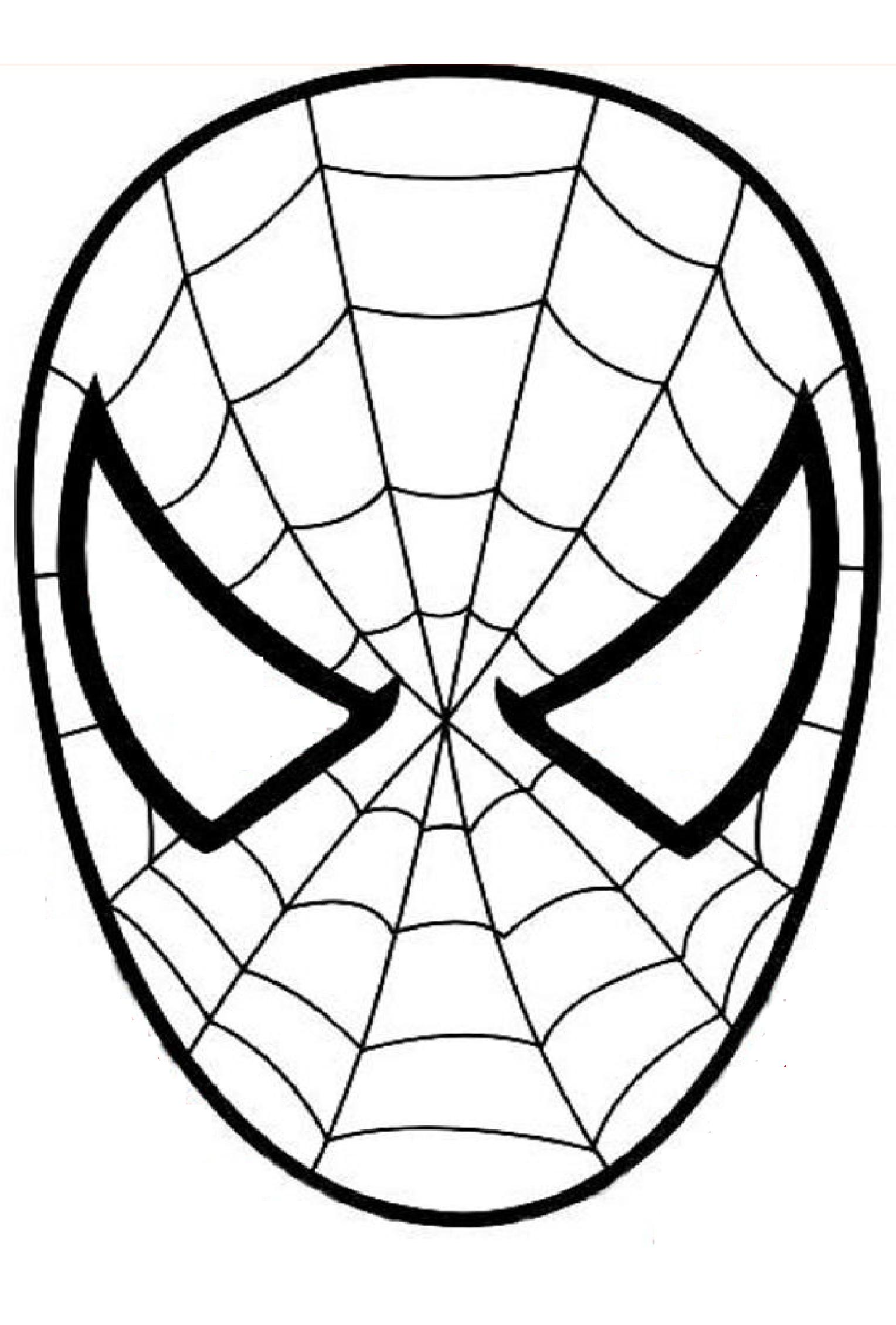 coloring pages spiderman mask clip - photo#12