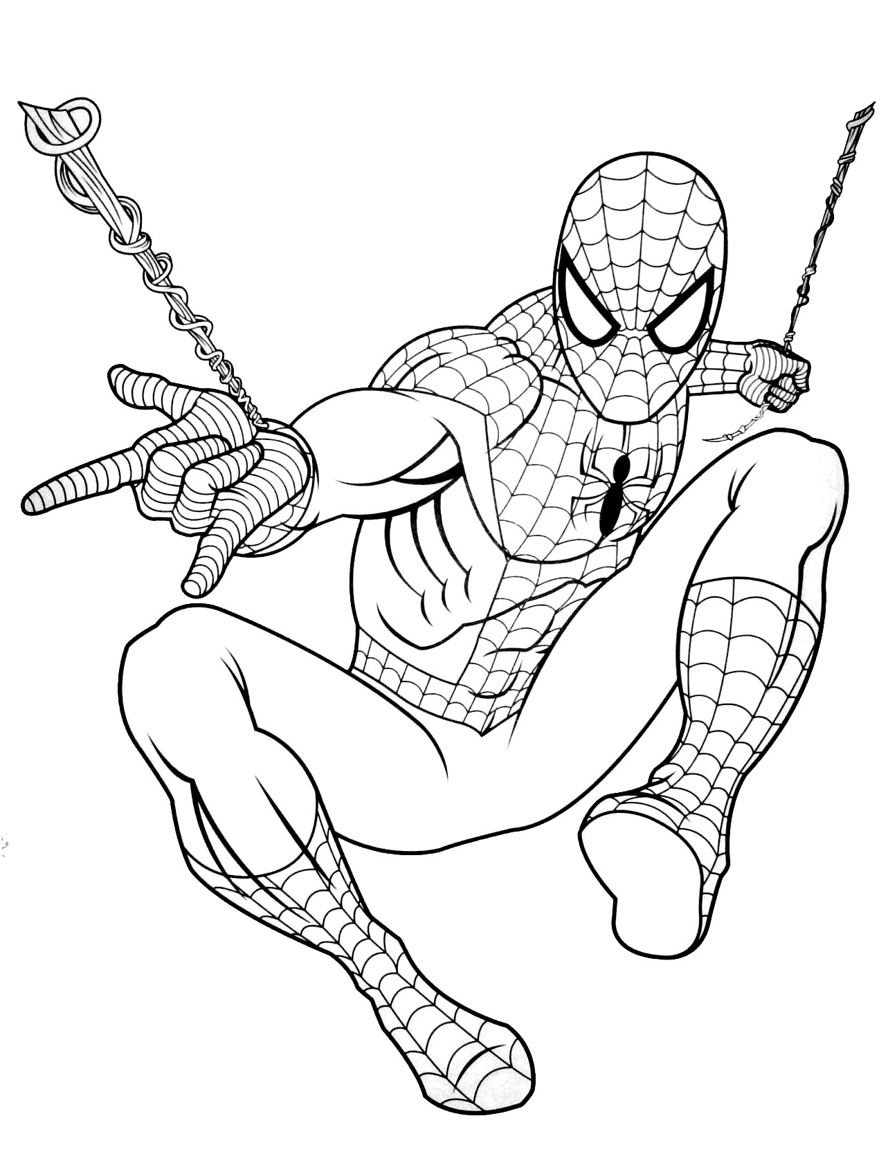 20 dessins de coloriage spiderman gratuit imprimer. Black Bedroom Furniture Sets. Home Design Ideas