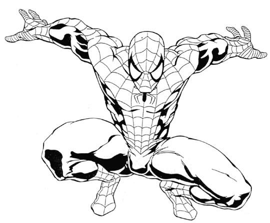 19 dessins de coloriage spiderman noir imprimer - Coloriage personnage spiderman ...