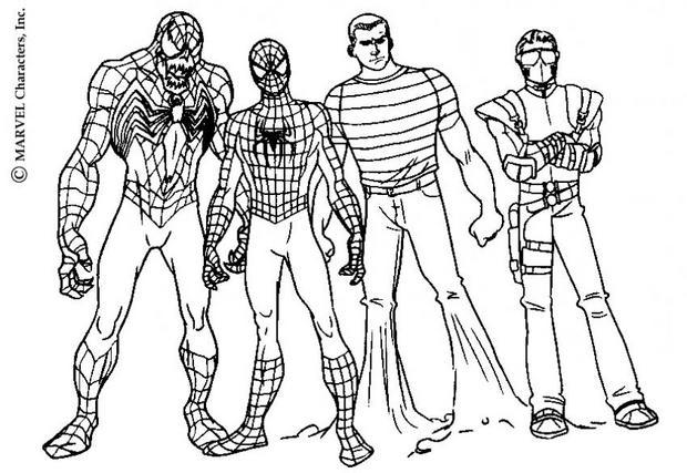 19 dessins de coloriage spiderman noir imprimer - Dessin a imprimer de spiderman ...