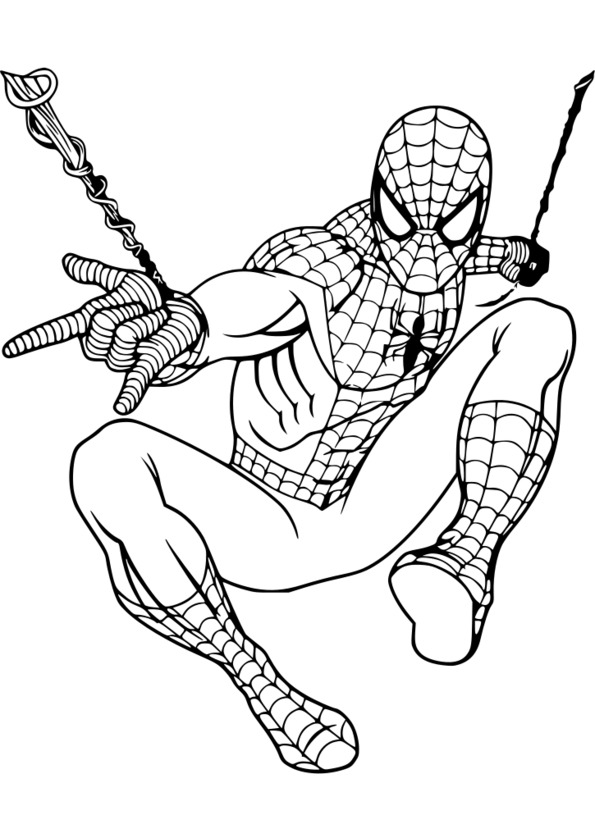 coloriage virtuel spiderman