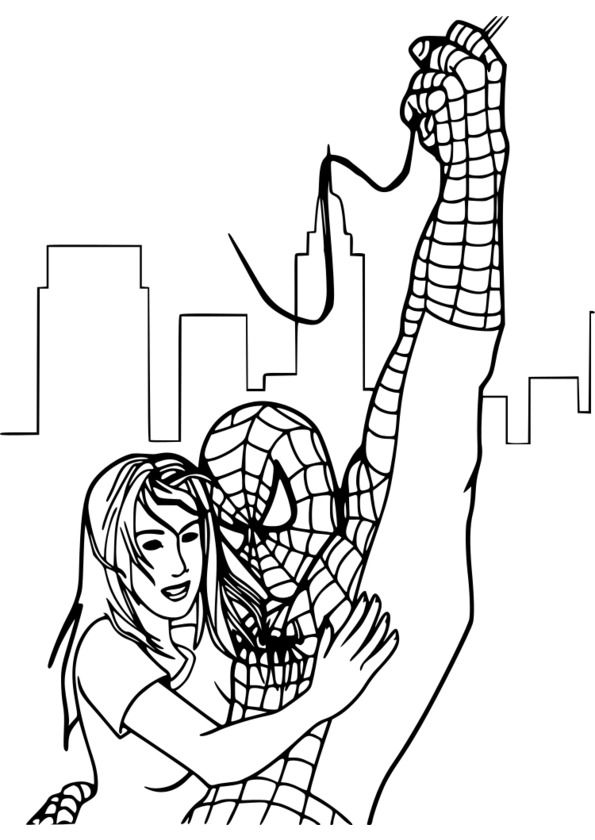imprimer coloriage spiderman gratuit