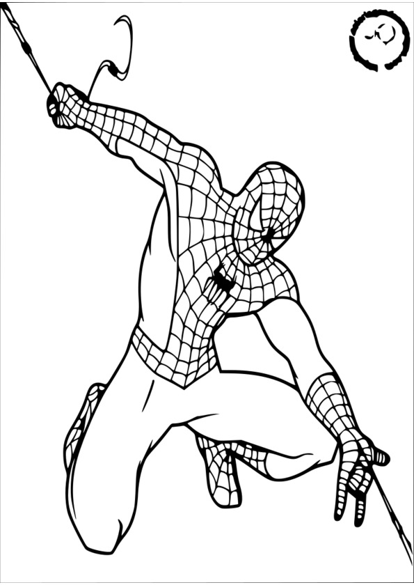 colorier un spiderman