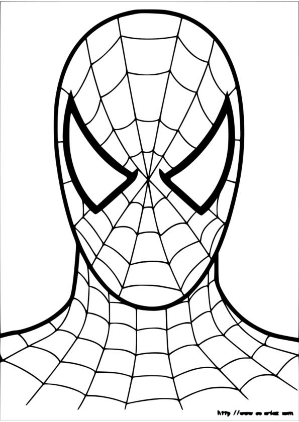 coloriage spiderman à colorier en ligne