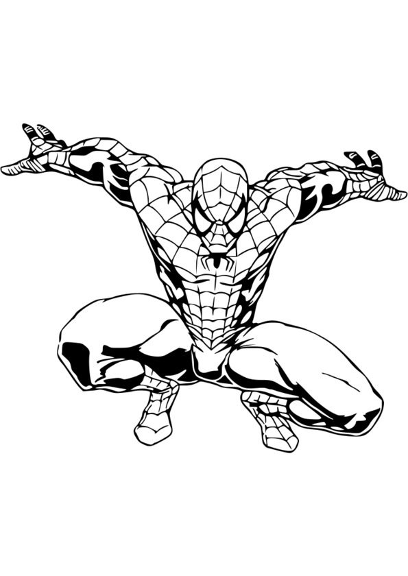 Coloriage spiderman lezard - Dessin a colorier spiderman moto ...