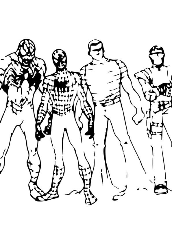 coloriage spiderman 4 à imprimer