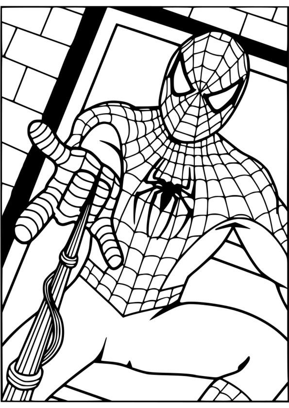 coloriage spiderman sans masque